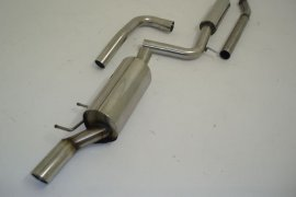 Exhaust system FMS VW Polo 6R - size A 63,5mm stainless steel