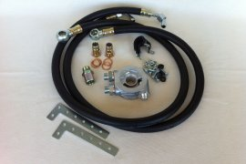 Assembly kit oil cooler VW G60, G40 - black rubber lines