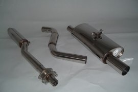 Exhaust system FMS VW Polo II / III 86c - size A / 63,5mm stainless steel