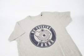 T-Shirt men NO FUCKING TURBO - retro grey