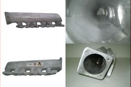 Intake manifold VR6 Turbo - short, lateral outlet - for R32 throttle valve