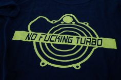 T-shirt men NO FUCKING TURBO in black