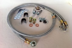 Assembly kit oil cooler VW G60, G40 - Steel braided lines