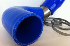 Charge air - pipe bend Golf 1 G60 with Sprinter LLK - blue