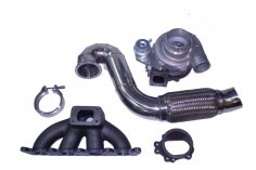 Turbo conversion kit Audi A3 8L 1.8T GT2871R + downpipe + manifold + V-band up to 400 PS