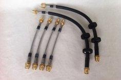 Steel braided brake lines Golf 4 incl. GTI