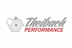Theibach-Performance stickers / labels / lettering in silver-red
